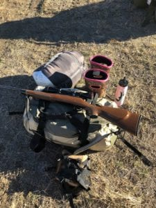 gear in hunting pack